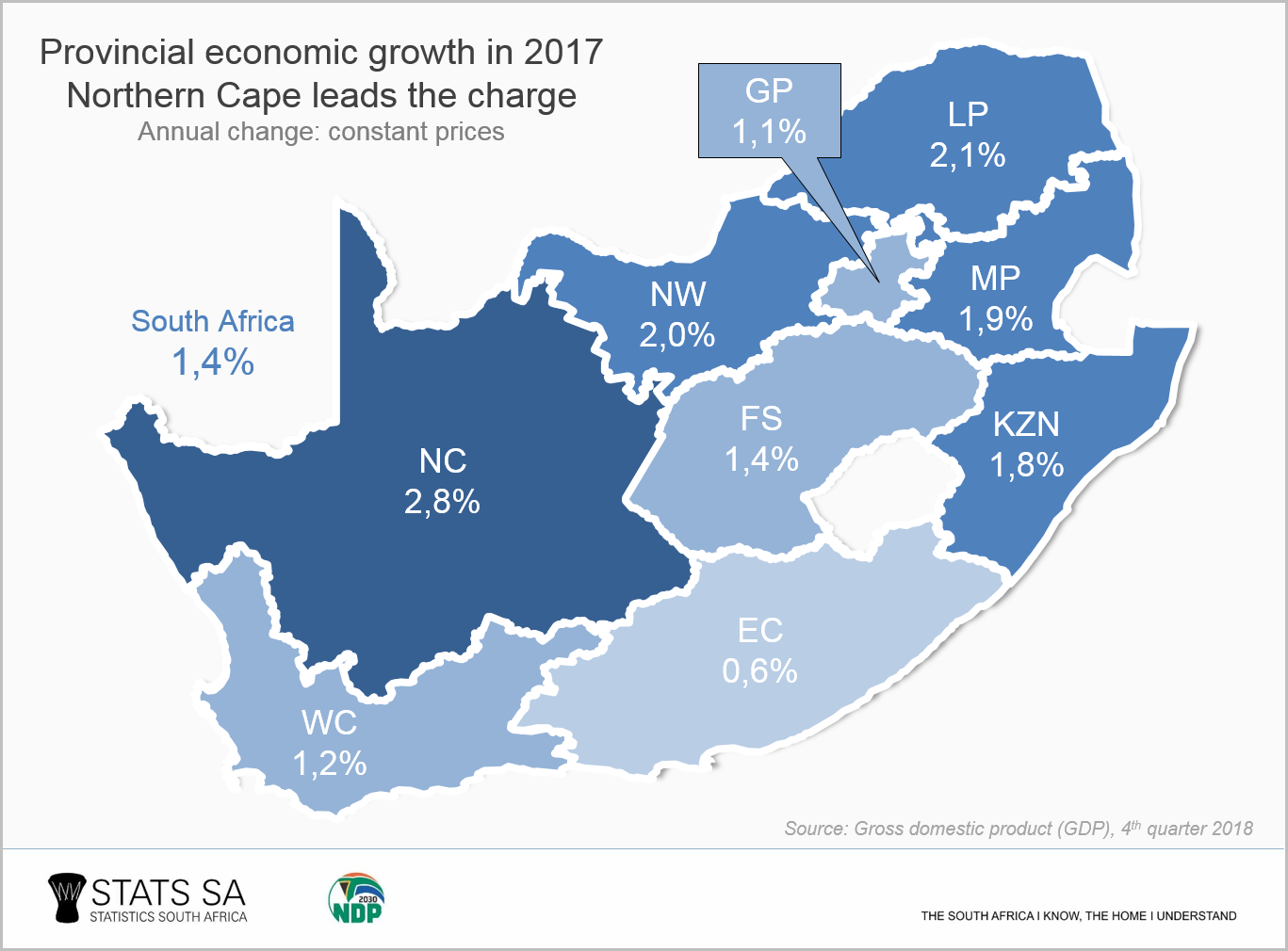 Map Of South Africa Showing 9 Provinces.Four Facts About Our Provincial Economies Statistics South Africa